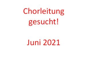 Chorleitung210601